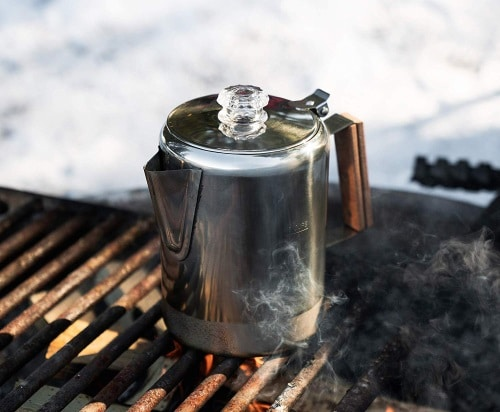 8.  Percolator Camping Coffee
