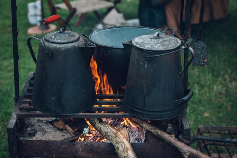 2.  Making Cowboy coffee
