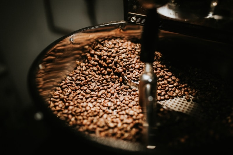 How are coffee beans roasted?