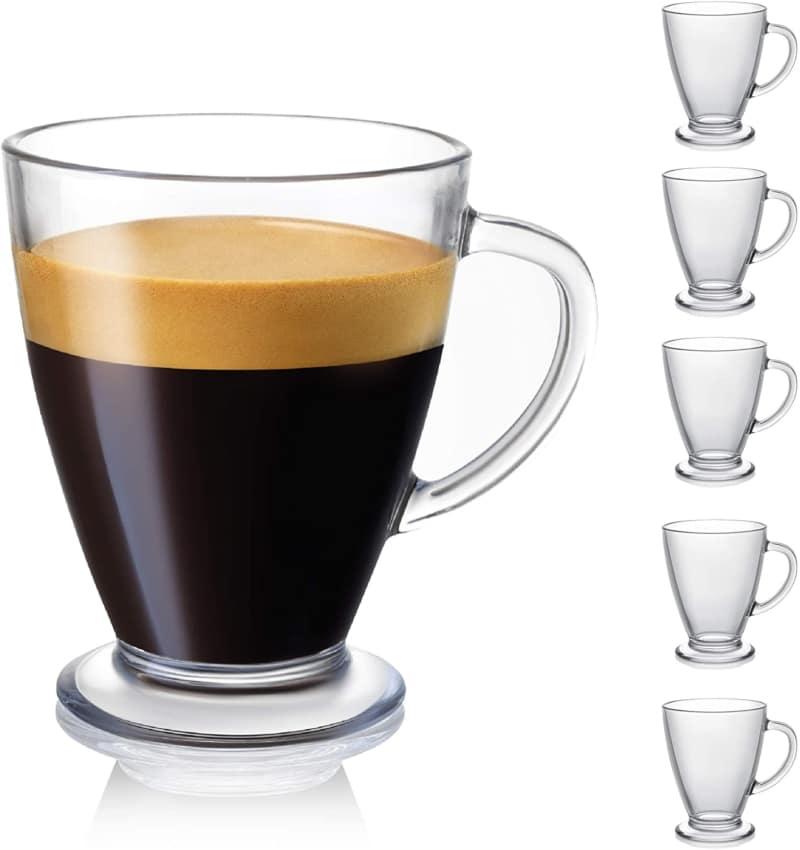 4. JoyJolt Declan Coffee Mug. Glass Coffee Mugs Set of 6