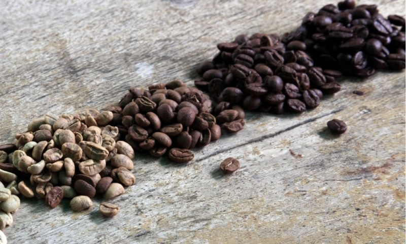 Four Coffee Roast Types