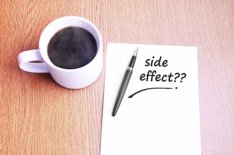 Besides the advantages, what are the side effects of coffee?