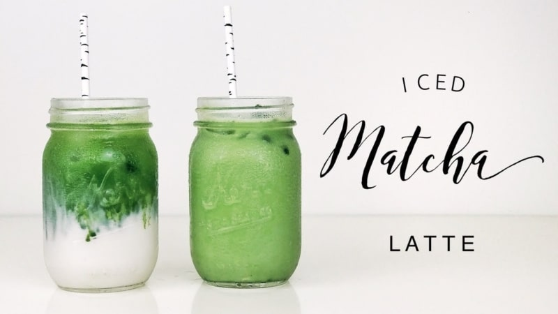 Matcha latte that goes well with summer