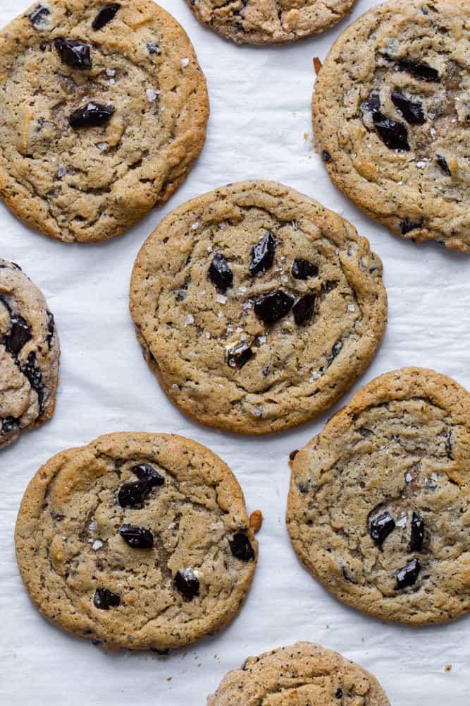 Baked coffee cookies