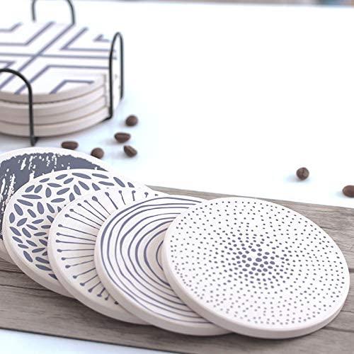 1. FLASHOME Minimalist Coasters