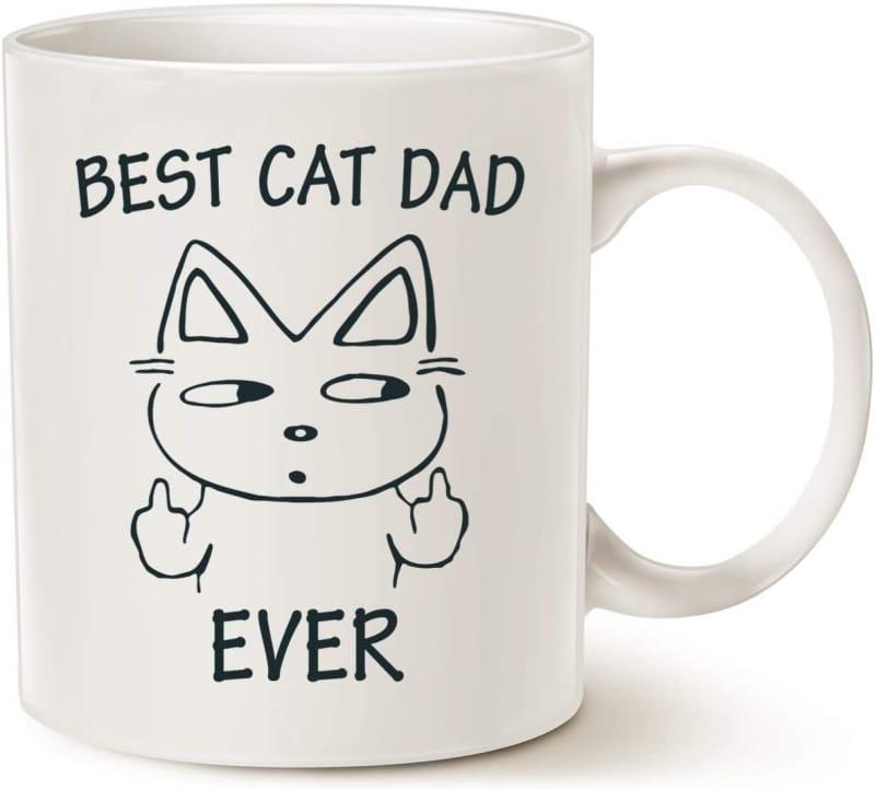 15. MAUAG Cat Dad Coffee Mug for Cat Lovers