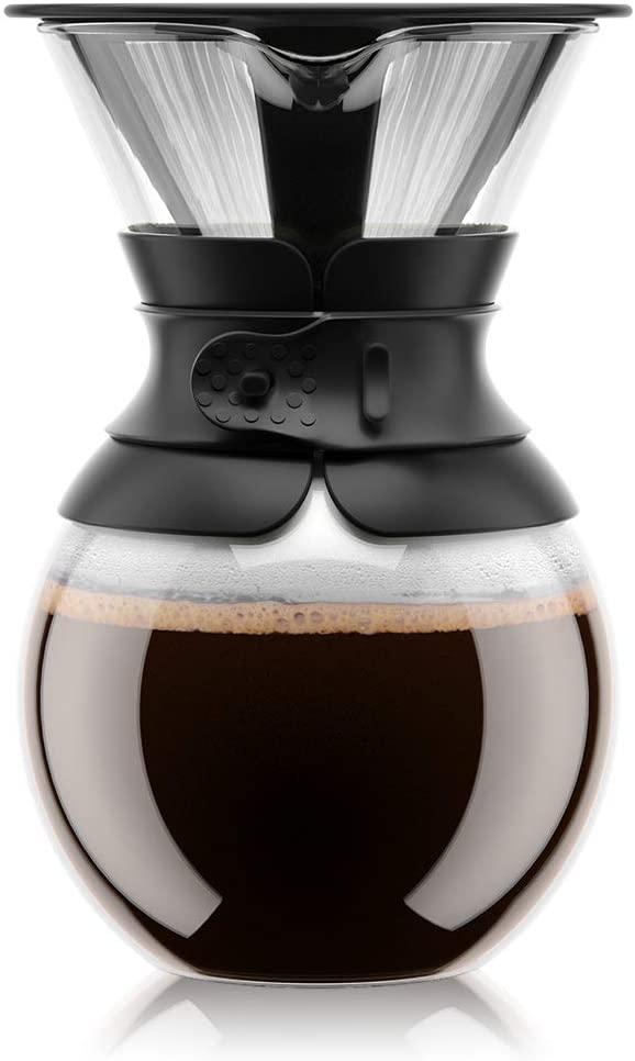 1. Pour Over Bodum Coffee Maker