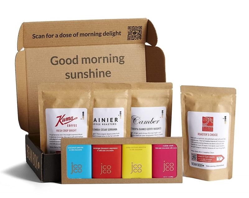 10. Bean Box - Coffee + Chocolate Gift Box - Ground
