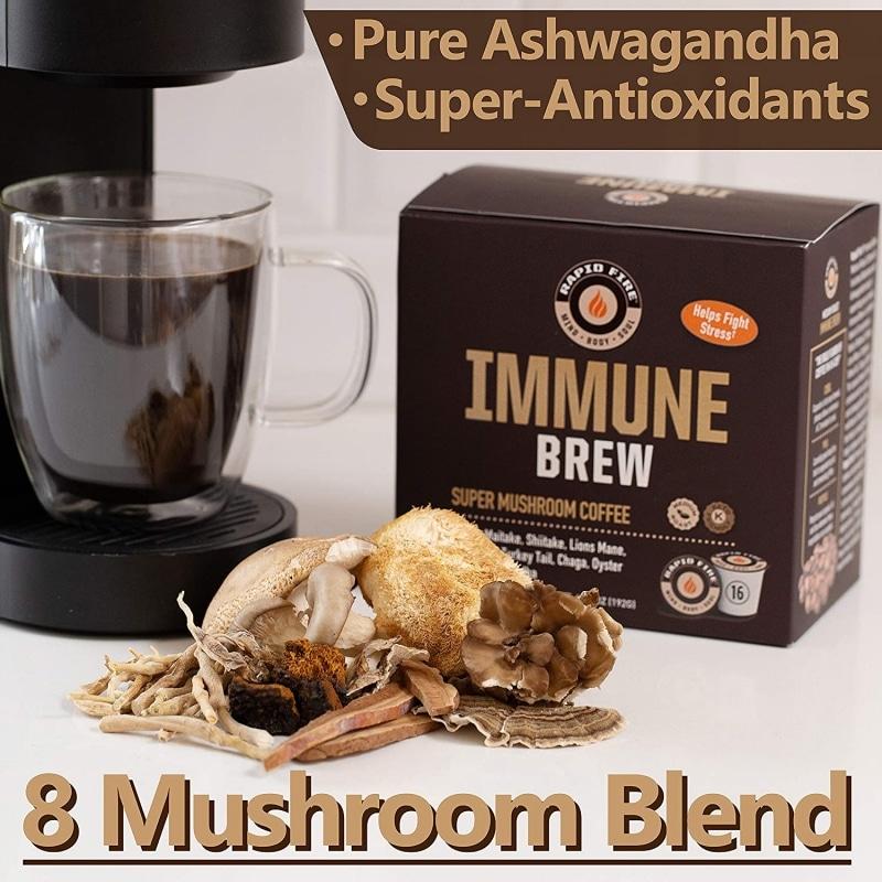 11. RapidFire Immune Brew Super Mushroom Coffee