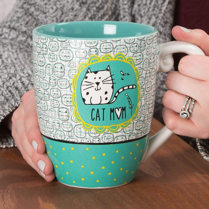 1. It's Cats & Dogs Cat Mom Ceramic Extra Large Coffee Mug