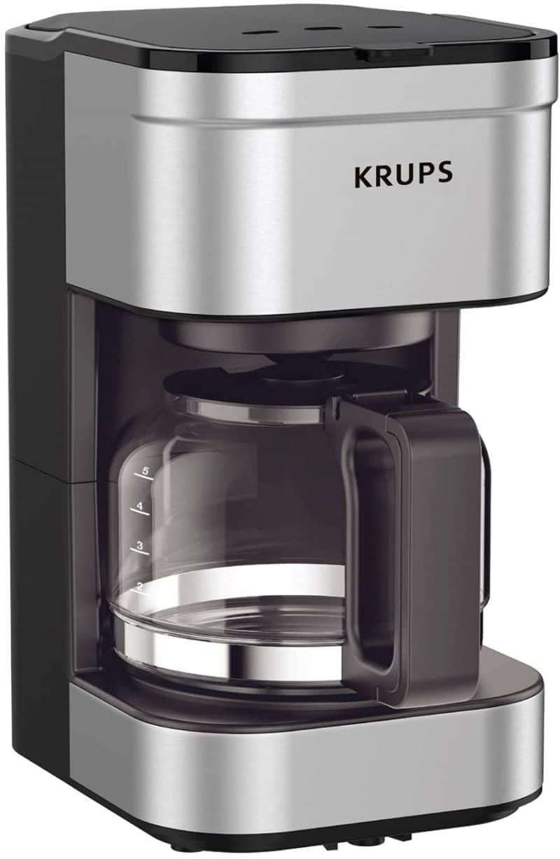 2. KRUPS KM202850 Compact Filter Drip Coffee Maker