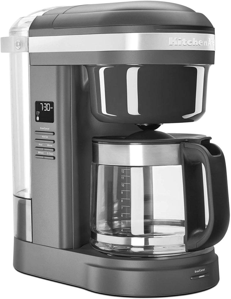 2. KitchenAid KCM1208DG Spiral Showerhead 12 Cup Drip Coffee Maker