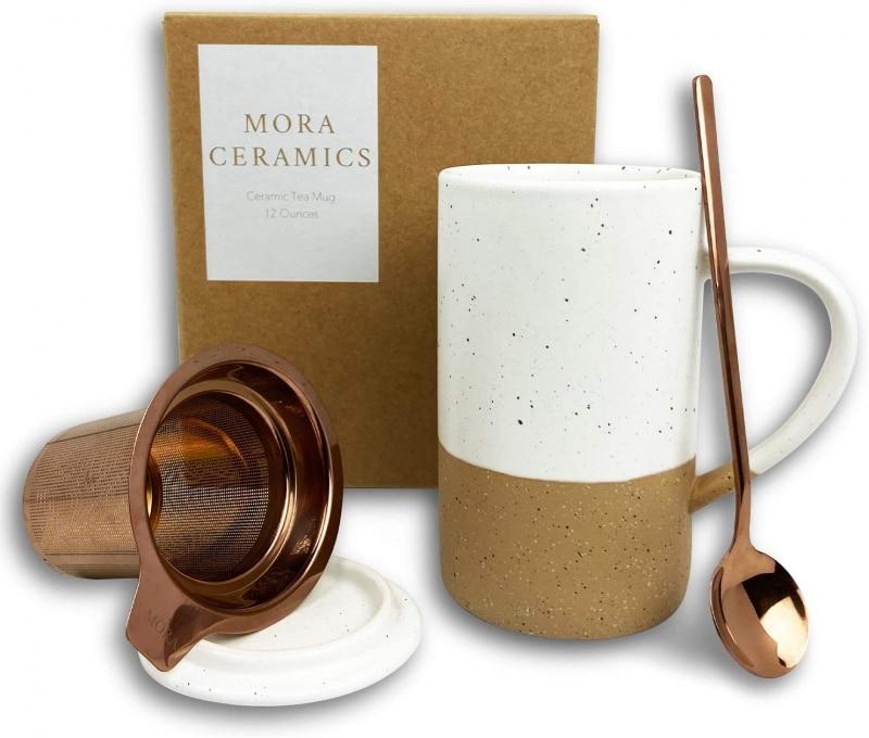 2. Mora Ceramics Tea Cup with Loose Leaf Infuser