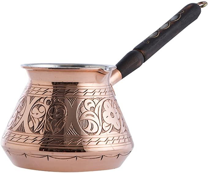 6. CopperBull Copper Turkish Greek Arabic Coffee Maker