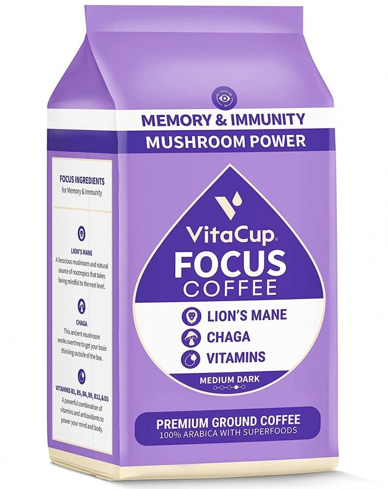 2. VitaCup Focus Ground Mushroom Coffee