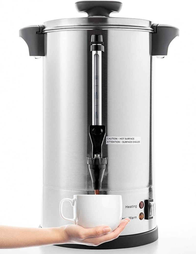 3. SYBO Commercial Percolate Delicious Coffee Maker Hot Water Urn