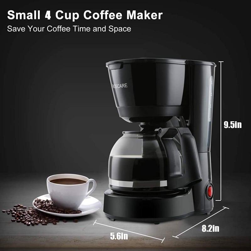 3. BOSCARE 4 Cup Coffee Maker