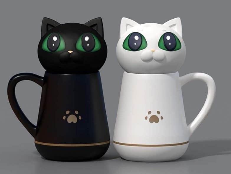 12. Coffee Mug with Cat Lid