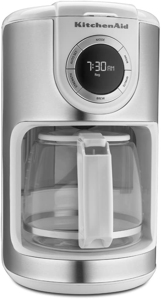 5. KitchenAid KCM1202WH 12-Cup Glass Carafe Coffee Maker