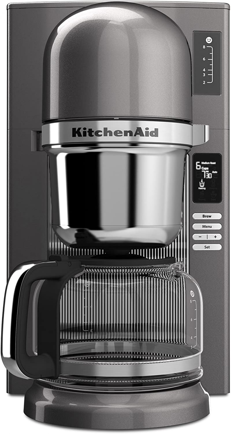 6. KitchenAid KCM0802MS Pour-Over Coffee Brewer