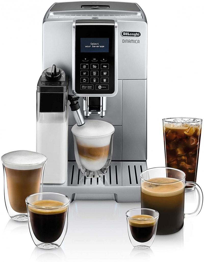 6. De'Longhi Dinamica with LatteCrema Automatic Espresso Machine