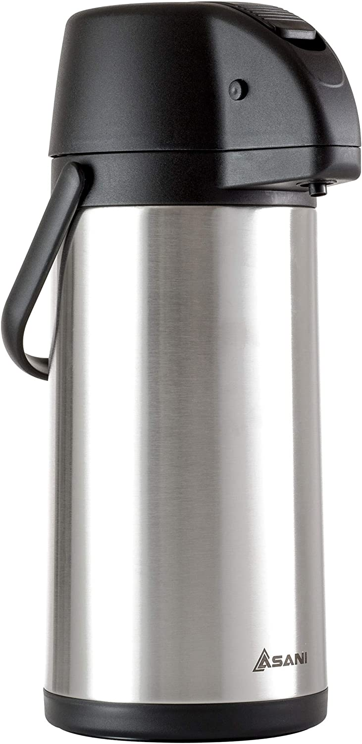 7. Asani Thermal Coffee Airpot Stainless Steel Urn for Tea, Water, Coffee, Iced Beverages