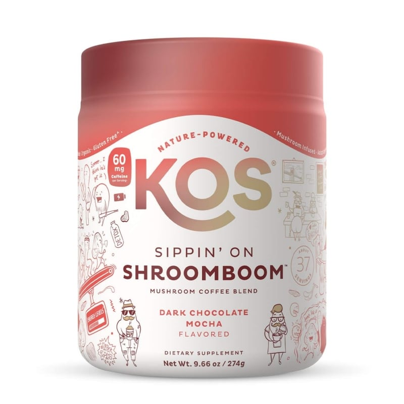 8. KOS Sippin' on Shroom Boom Mushroom Coffee