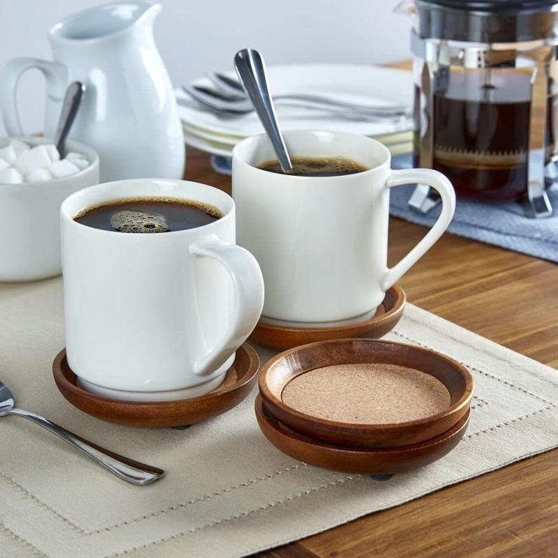 8. Kamenstein Wood Coasters