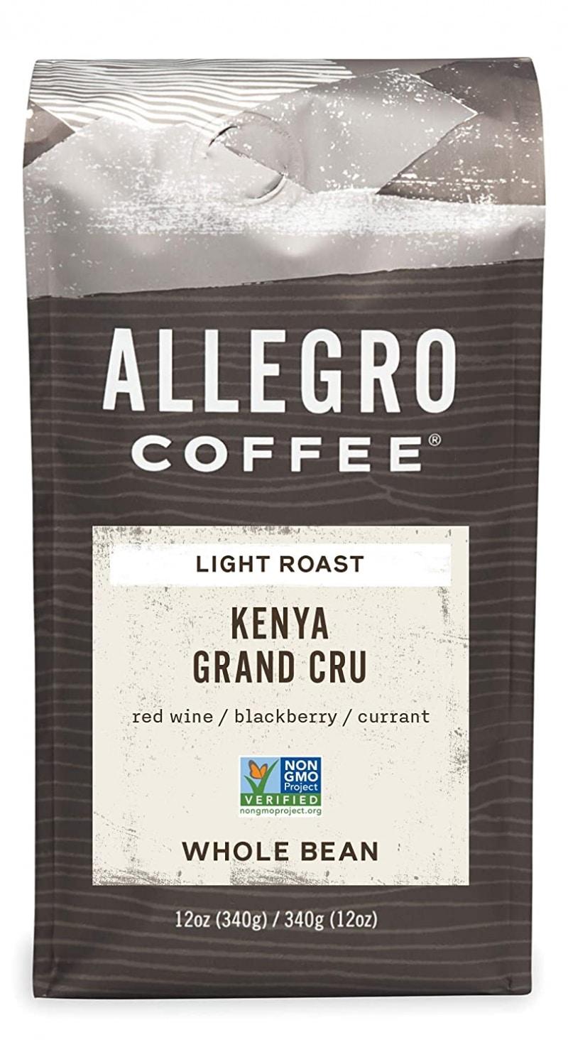 1. Allegro Coffee Kenya Grand Cru Whole Bean Coffee