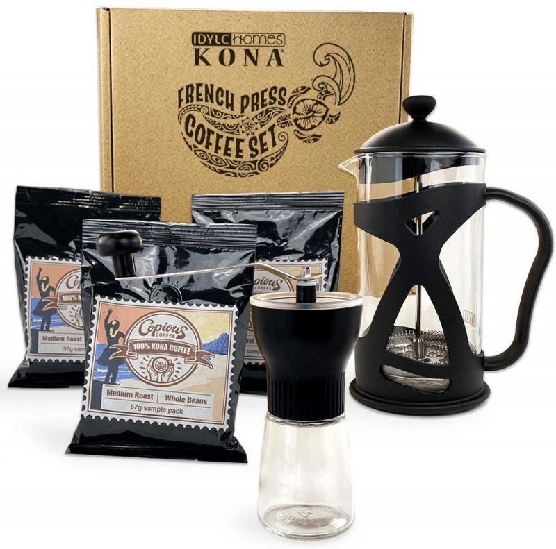 1. Kona Coffee Gift Set