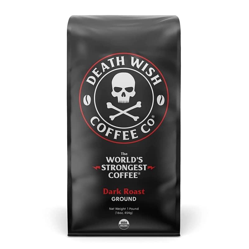 1. DEATH WISH COFFEE Ground Coffee Dark Roast