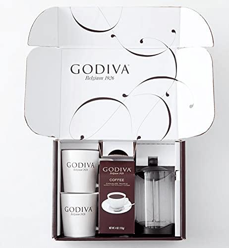 4. Godiva Coffee French Press Gift Set
