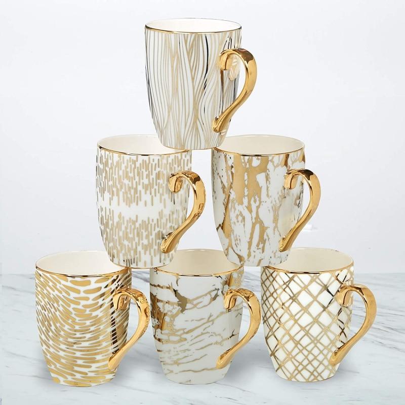 1. Gold Plated Certified International Coffee Mug in Set of 6