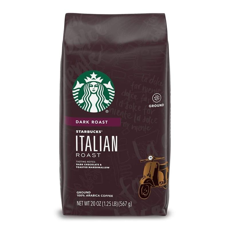 1. Starbucks Italian Roast Ground Coffee