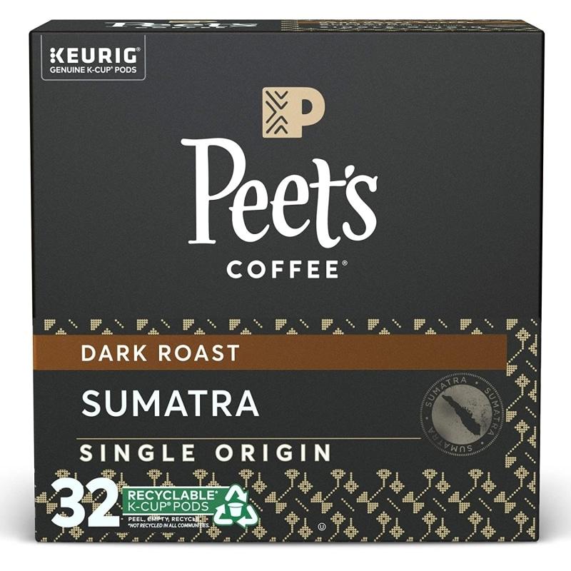 1. Peet's Coffee Single Origin Sumatra K-Cup Coffee Pods
