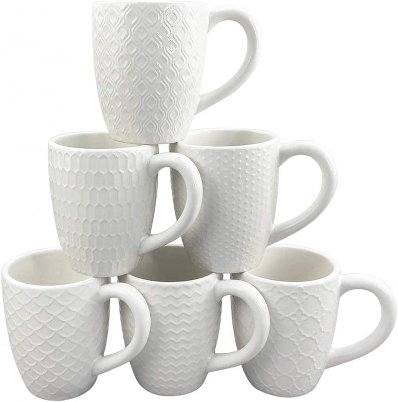 10. Dishwasher Safe Schliersee White Coffee Mug Set
