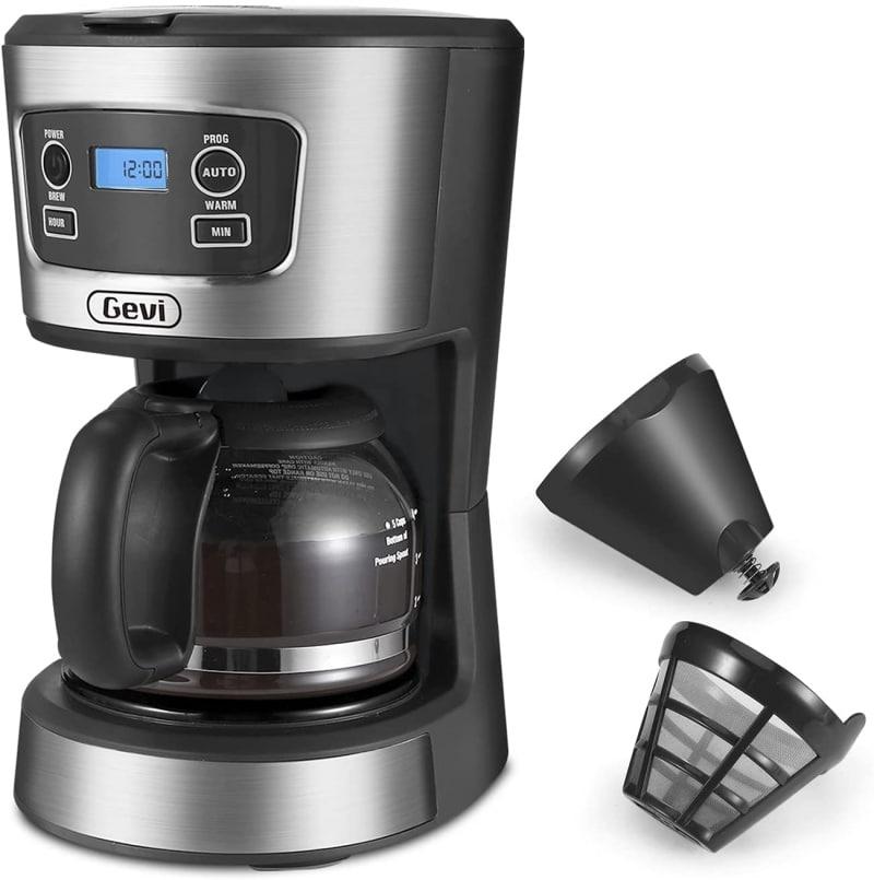 10. Gevi Small Programmable Coffee Maker