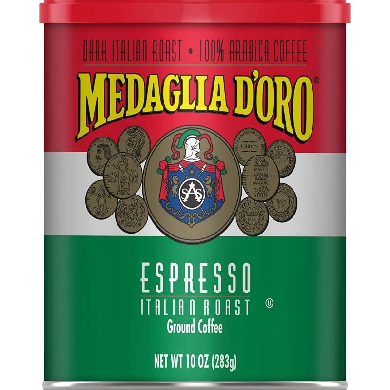 10. Medaglia D'Oro Italian Roast Espresso Style Ground Coffee
