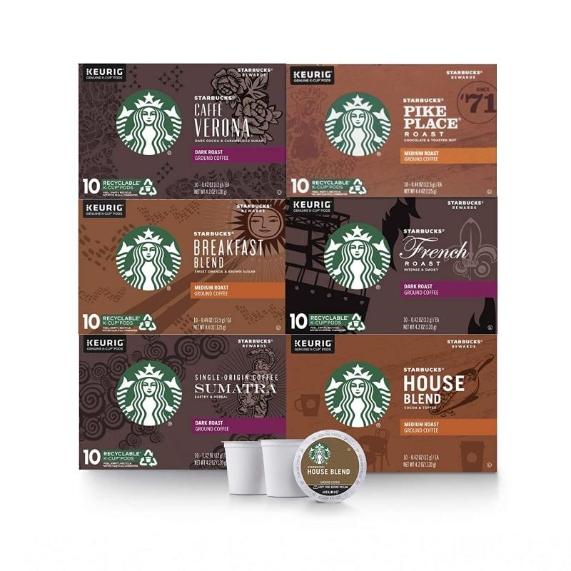 10. Starbucks Black Coffee K-Cup Coffee Variety Pack