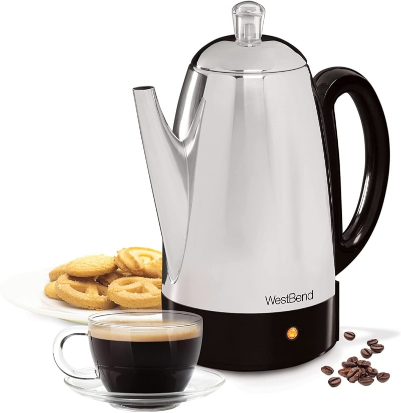 10. WestBend Classic Stainless Steel Electric Coffee Percolator