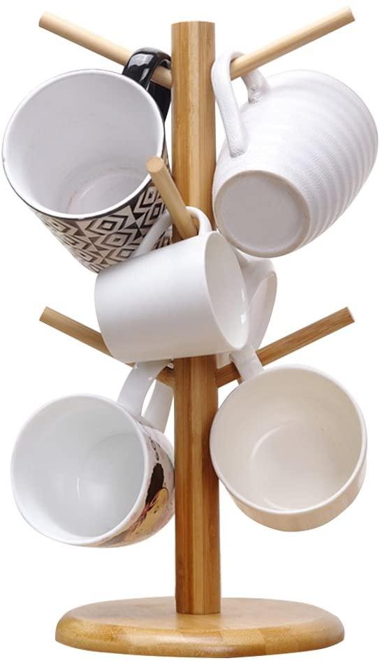11. MyLifeUNIT Coffee Mug Holder With Tree Stand