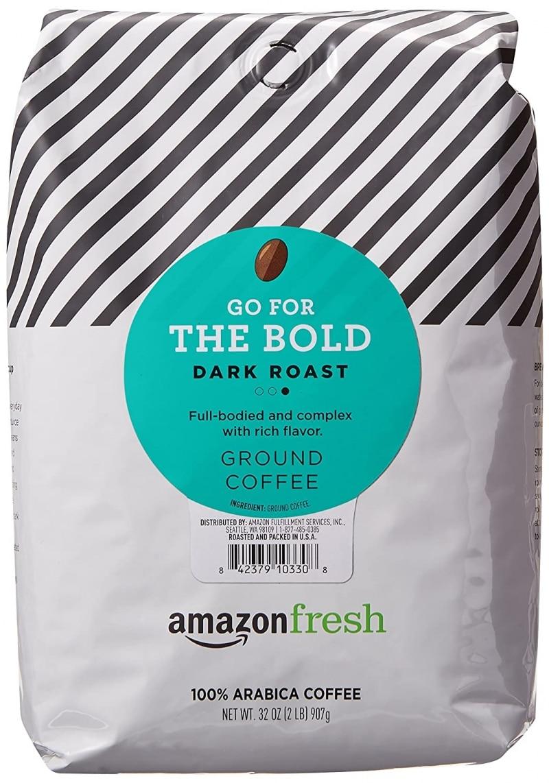 11. AmazonFresh Go For The Bold Ground Coffee