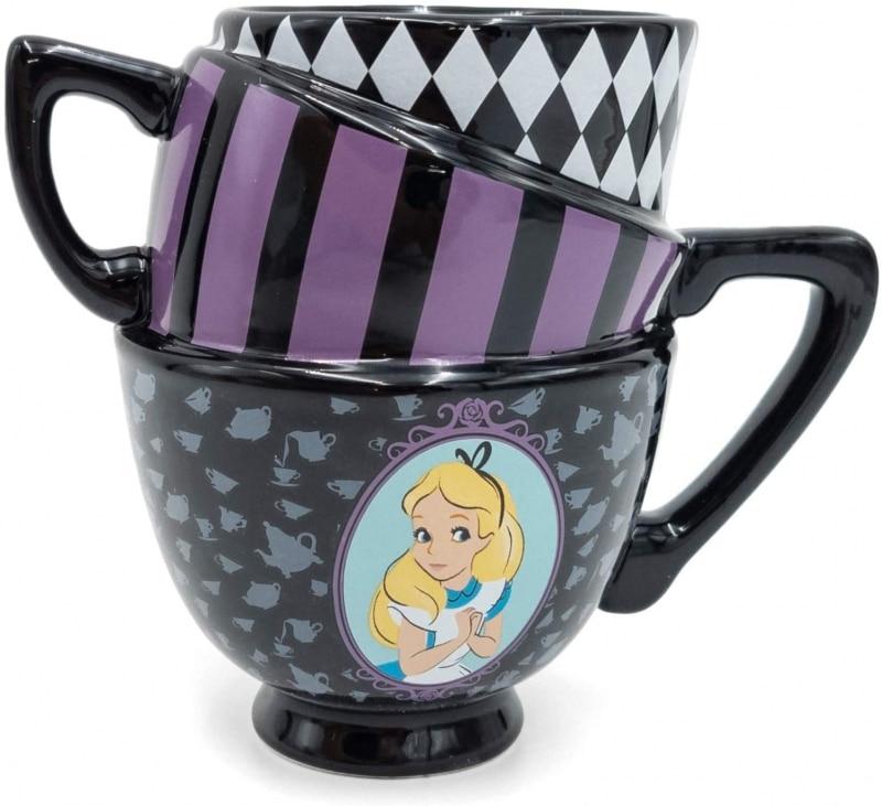 18. Silver Buffalo Disney Alice in Wonderland Stacked Tea Cups