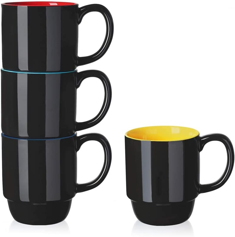 12. Dishwasher Safe Color Combo Teocera Coffee Mug Set