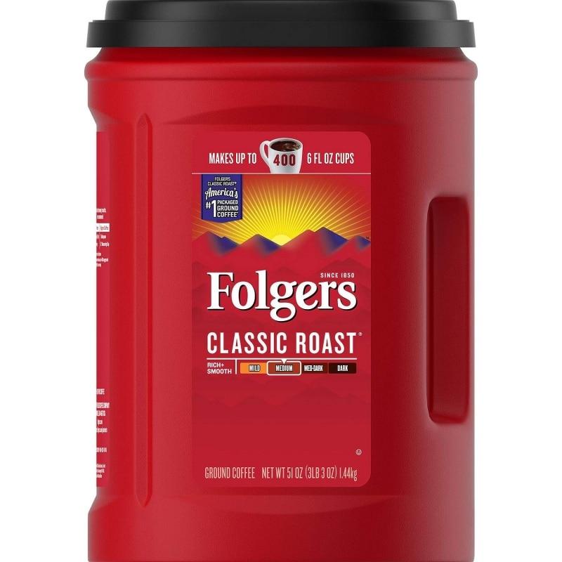 12. Folgers Classic Roast Ground Coffee
