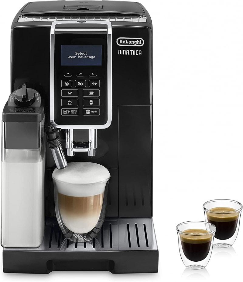 2. Delonghi Dinamica Super-automatic Espresso Machine