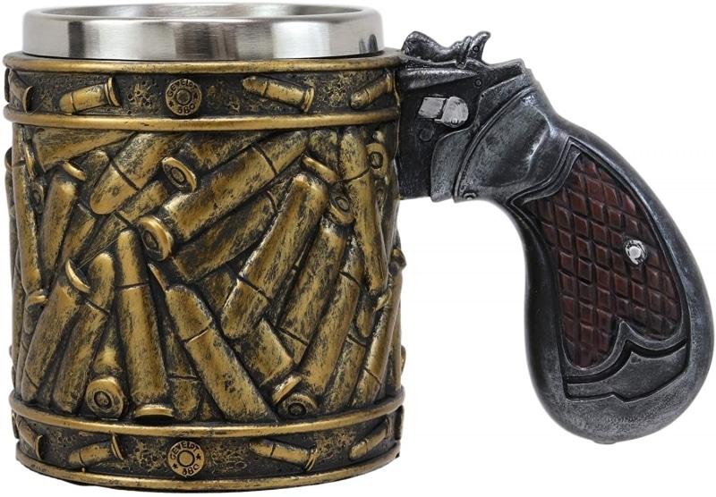 27. Ebros Bullet Shell Casing Design Mug