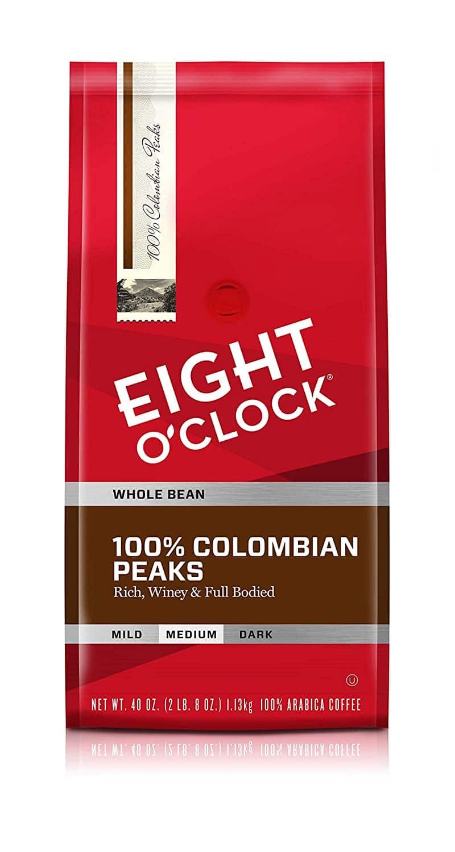 2. Eight O'Clock Colombian Coffee Beans Peaks