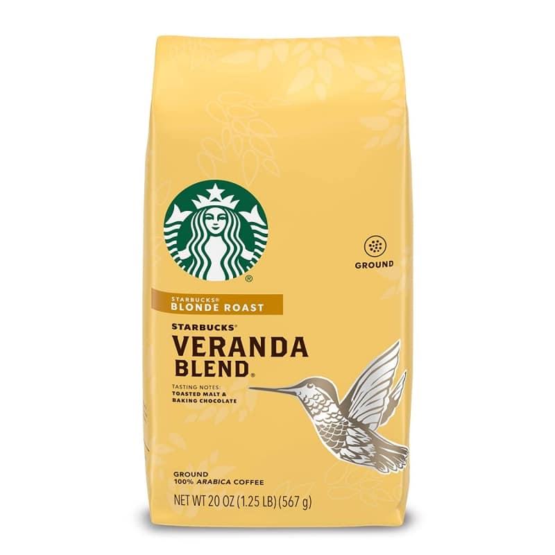 2. Starbucks Blonde Roast Ground Coffee