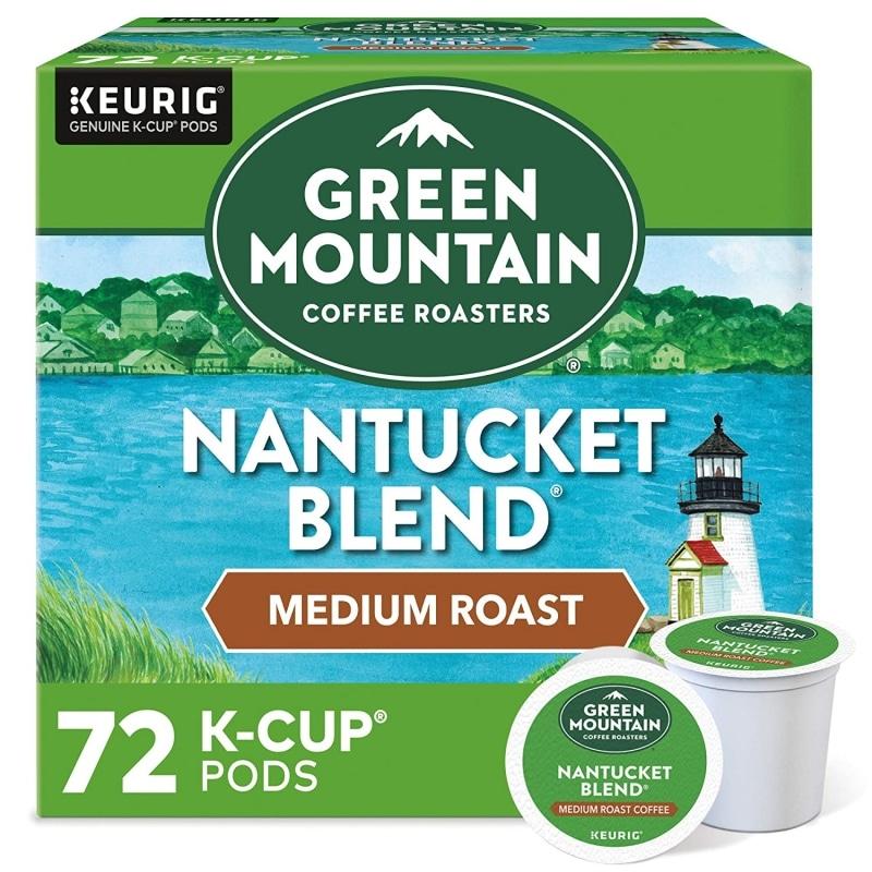 2. Green Mountain Coffee Roasters Nantucket Blend, Single Serve Keurig K-Cup Pods